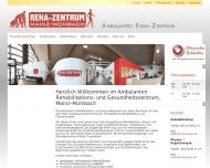 Bild Webseite Ambulantes Rehabilitations- u. Gesundheitszentrum Mz-Mombach Gm bH Mainz