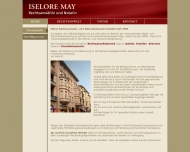 Website May Iselore Rechtsanwältin u. Notarin