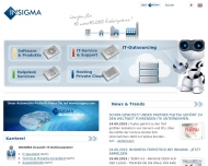 Bild Webseite INSIGMA IT Engineering Köln