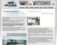 Bild Webseite Grauer Metallbau und Gestaltung Reutlingen