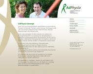 Bild Webseite Krankengymnastik AdPhysio , Kristina Noll & Ralph Schulze Nürnberg
