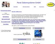 Bild Webseite Parat Datensysteme München