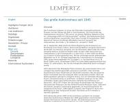 Website Kunsthaus Lempertz Inhaber Hanstein