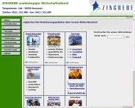 Bild Webseite Zingrebe Versicherung Makler Hannover