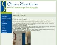 Bild Webseite Krankengymnastik Neuenkirchen Oliver v. Nürnberg