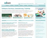 Bild Webseite edcom edv training und service München