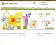 Bild Webseite Yves Rocher Handel mit kosmetischen Produkten Hamburg
