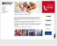 Website Wolf Sanitär-, und Heizungstechnik