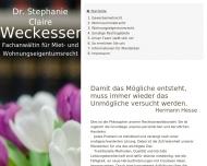 Bild Webseite Rechtsanwältin Dr. Stephanie Claire Weckesser Berlin