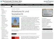 Bild Webseite Rechtsanwalt Christian Sehn Mannheim