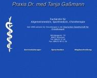Bild Webseite Gaßmann Tanja Dr. Fachärztin für Allgemeinmedizin Sportmedizin Chirotherapie München
