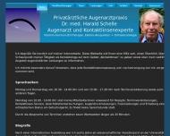 Bild Webseite Schelle Harald Dr. Augenarzt Kontaktlinsenspezialist Köln
