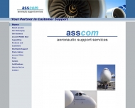 Bild Webseite asscom aeronautic support services Hamburg