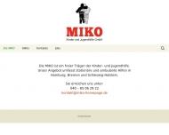 Bild Webseite MIKO, Kinder- und Jugendhilfe Hamburg