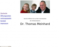 Bild Webseite Meinhard Thomas Dr.rer.nat. Kinderarzt Köln