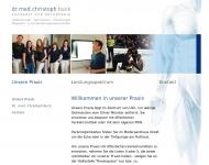 Website Buck Christoph Dr.med. Arzt für Orthopädie Sportmedizin u. Chirotherapie , Praxis