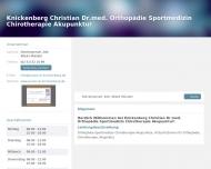 Bild Knickenberg Christian Dr.med. Orthopädie Sportmedizin Chirotherapie Akupunktur