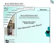 Bild Webseite HausGemacht Hauswirtschaft liche Dienstleistungsgenossenschaft eG München