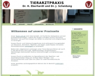 Website Tierarztpraxis Dr. H. Eberhardt & Dr. J. Scheidung