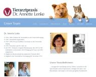 Website Lenke Annette Dr.med.vet. Tierärztin
