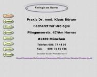 Bild Webseite Bürger Klaus D. Dr.med. Arzt für Urologie München
