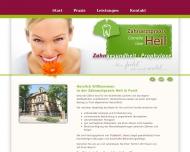 Website Cornelia und Uwe Heil - Zahnarztpraxis