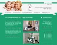 Bild Webseite Pärisch H. Zahnarztpraxis Berlin