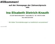 Bild Webseite Dietrich Ina Elisabeth Zahnärztin Berlin