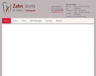 Bild Webseite Zahnarztpraxis Dr. Fabel, Zahnärzte am Cosimapark München