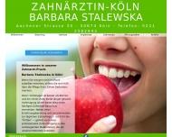 Bild Webseite Stalewska Barbara Zahnarztpraxis Köln