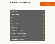 Bild Webseite Kahlert-Schröder Annett Dr. Fachzahnärztin für Allgemeine Stomatologie München