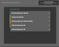 Bild Webseite Zahnarztpraxis Dr. Katrin Quast u. Dipl.-Med. A. Speda Berlin