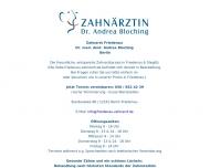 Bild Webseite Zahnarzt Friedenau Dr. Andrea Bloching Berlin