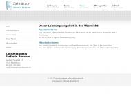 Website Benzner Stefanie Zahnarzt