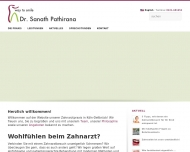 Bild Webseite Pathirana Himapriya Sanath Dr. Praxis f. Zahnheilkunde Köln