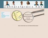 Bild Webseite Kami Manouchehr Zahnarzt Köln
