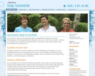 Bild Webseite Schönfeldt Katja Zahnärztin Berlin