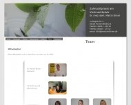 Website Birner Martin Dr.med.dent Zahnarzt