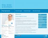 Website Kirchheim A. Dr. u. Grote Mathias Dr. Zahnarzt Oralchirurg.