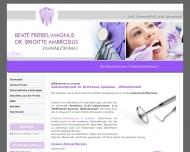 Bild Webseite Friebel-Magnus Beate , Ambrosius Brigitte Dr. Zahnärztinnen Berlin