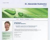 Bild Webseite Dudrewicz Alexander Dr. Zahnarzt München