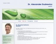 Website Dudrewicz Alexander Dr. Zahnarzt