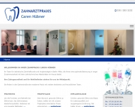Bild Webseite Zahnarztpraxis Hübner Berlin