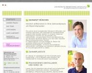 Bild Webseite Hansen Robert Dr. Zahnarzt München