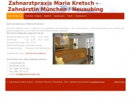 Bild Webseite Kretsch Maria Zahnärztin München