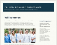 Bild Webseite Burlefinger Reinhard Dr.med. München