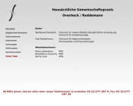 Website Overbeck Wolfgang Facharzt für Innere Medizin u. Reddemann Olaf Facharzt f. Allgemeinmedizin
