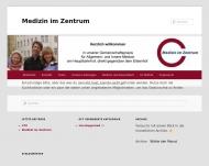 Website Medizin im Zentrum Gemeinschaftspraxis für Innere Medizin