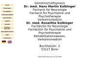 Bild Kolbinger Hans Martin Dr.med. , Roswitha Dr.med. Fachärzte für Neurologie Psychiatrie und Psychotherapie