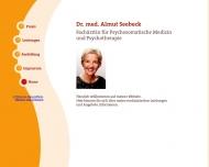 Bild Seebeck Almut Dr.med. FÄ f. Psychosomatische Medizin u. Psychotherapie